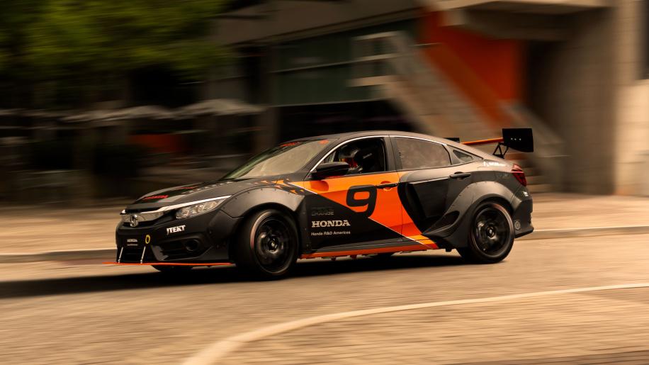 Honda Civic 600 hp - Deep Orange 9