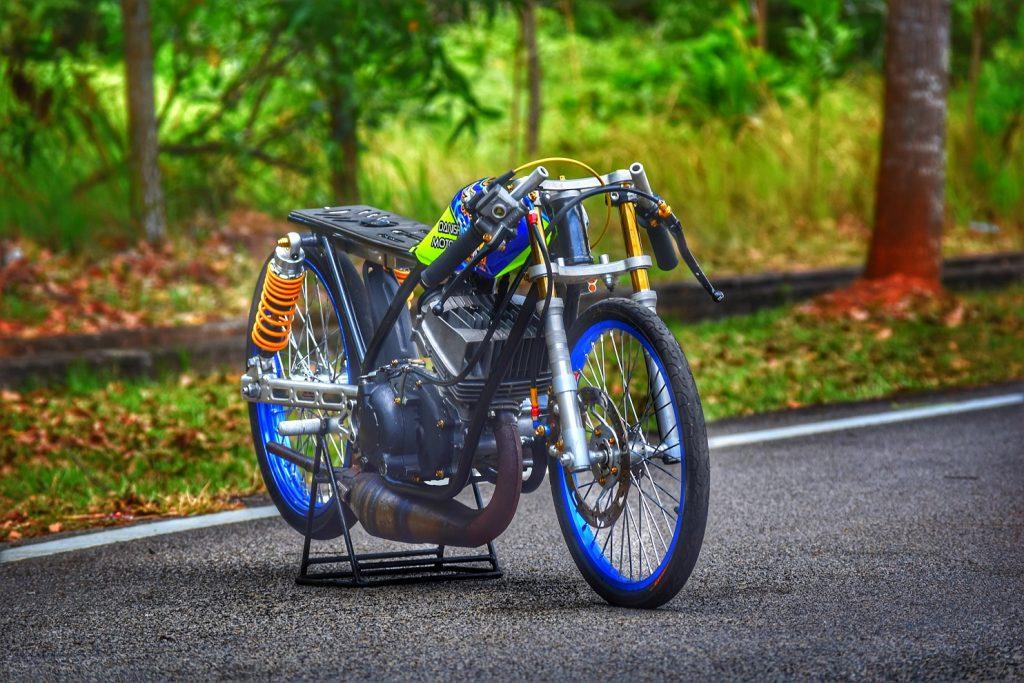 Yamaha 125Z jaguh litar drag • Motoqar