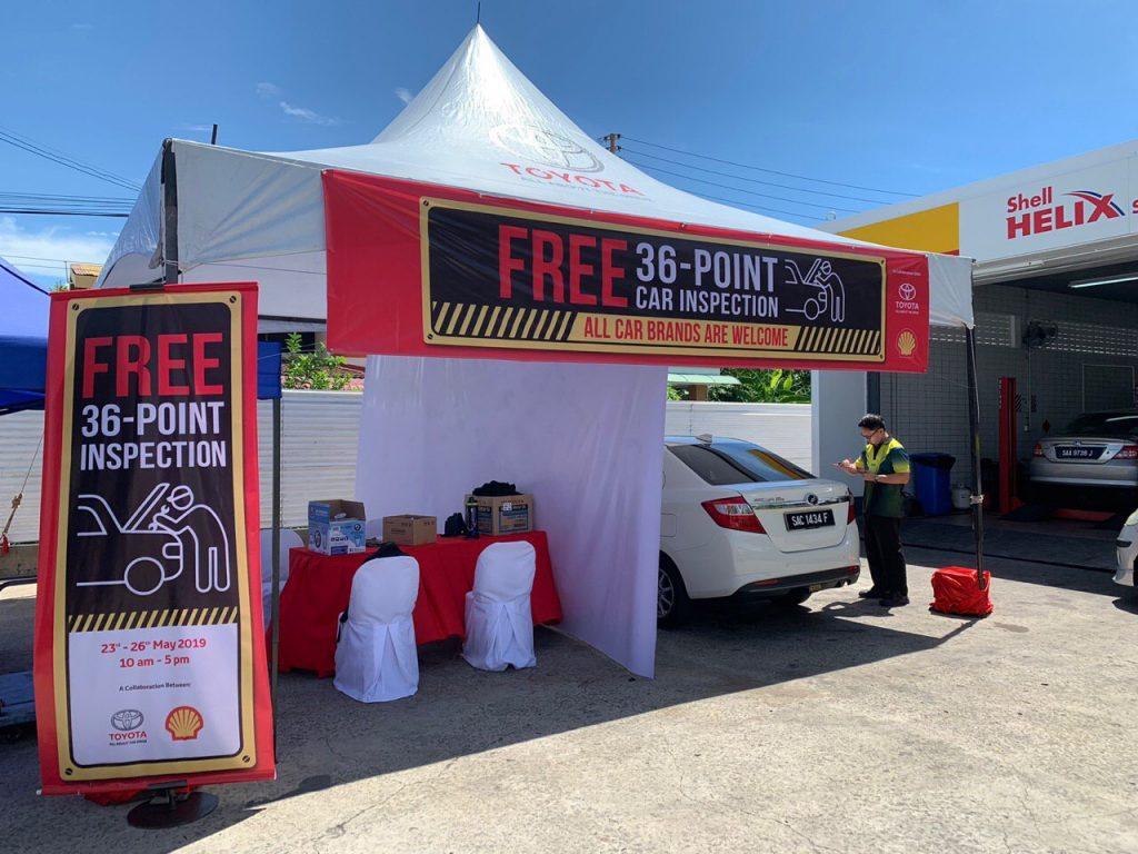 Toyota & Shell tawar pemeriksaan percuma - free inspection
