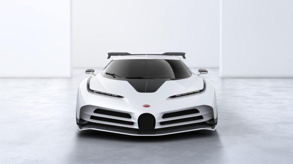 pandangan hadapan Bugatti Centodieci