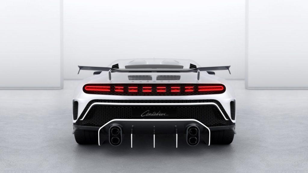 pandangan belakang Bugatti Centodieci