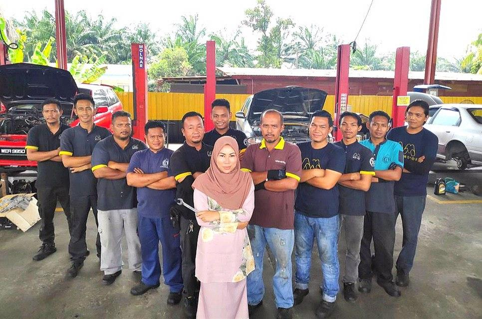 Wanita Melayu pertama miliki bengkel